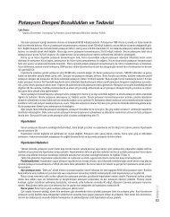 Potasyum Dengesi Bozukluklar› ve Tedavisi