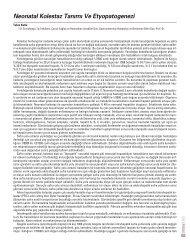 Neonatal Kolestaz Tan›m› Ve Etyopatogenezi