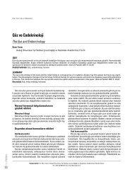 Göz ve Endokrinoloji - Güncel Pediatri Dergisi