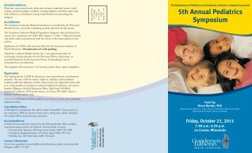 5th Annual Pediatrics Symposium - Gundersen Health System
