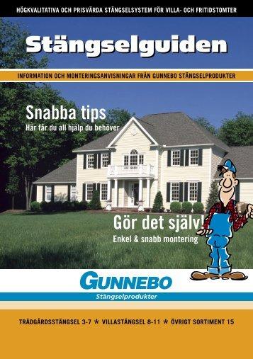 Montering - Gunnebo