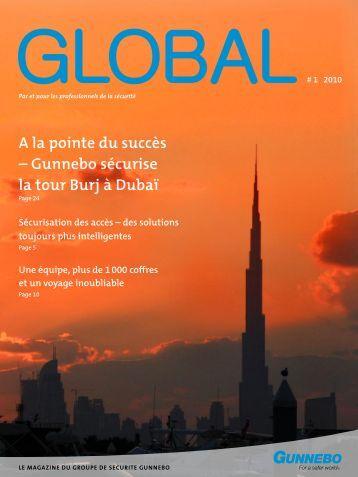 A la pointe du succès – Gunnebo sécurise la tour Burj à Dubaï
