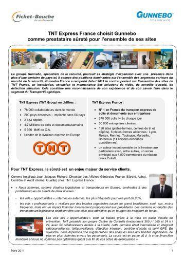 TNT Express France choisit Gunnebo comme prestataire sûreté ...