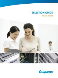 SELECTION GUIDE Price List 2013 - Gunnebo