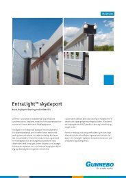 EntraLight™ skydeport - Gunnebo