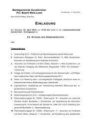 Marktgemeinde Gunskirchen Pol. Bezirk Wels-Land