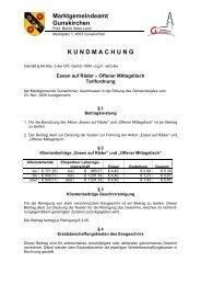 Essen auf Räder - Tarifordnung - .PDF - Gunskirchen