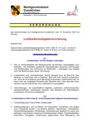 Lustbarkeitsabgabeverordnung - Gunskirchen
