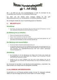 Neues Hundehaltegesetz 2003 - Gunskirchen