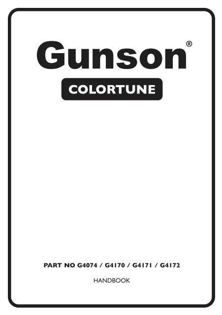 Gunson G4172 Gunson G4172 Motorrad-Colortune-Satz 10/ mm