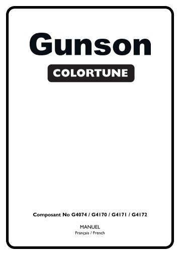 Bougie COLORTUNE - Gunson