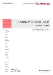 C Compiler for M16C Family Application Notes - Bienvenue sur la ...
