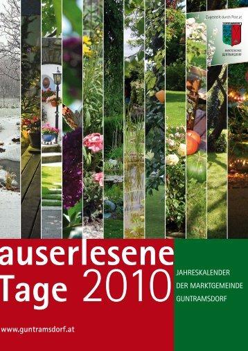 Jahreskalender - die auslese