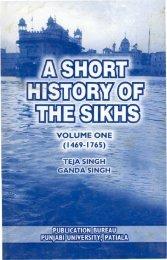A Short History of The Sikhs - Gurmat Veechar