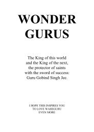 In Praise of the Gurus - Sikh Missionary Society