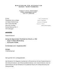 Antrag: Ungarn in Baden-Württemberg - Gurr-Hirsch, Friedlinde