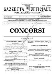 N. 9-Venerdì 25 settembre 2009- Serie Concorsi - Gazzetta Ufficiale ...