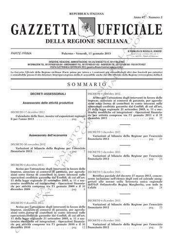 N. 02-Venerdì 11 Gennaio 2013 (PDF) - Gazzetta Ufficiale della ...