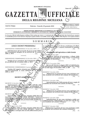 N. 4-Venerdì 29 gennaio 2010 (PDF) - Gazzetta Ufficiale della ...