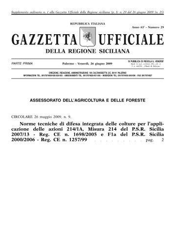 GAZZETTA UFFICIALE - PSR Sicilia
