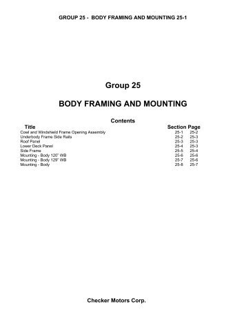 Group 25 Body Framing & Mounting - Gus Stories