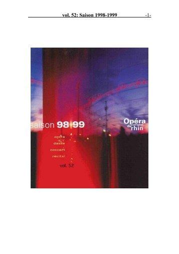 vol. 52: Saison 1998-1999 - 1 -