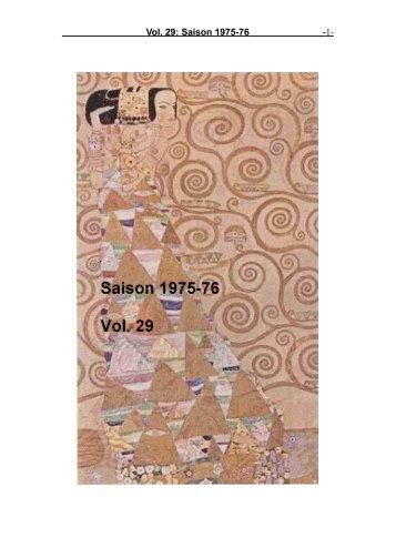 Vol. 29: Saison 1975-76 - 1-