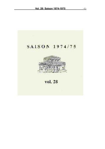 Vol. 28: Saison 1974-1975 - 1-