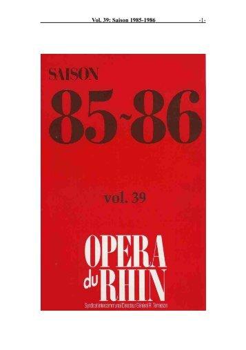 Vol. 39: Saison 1985-1986 - 1 -