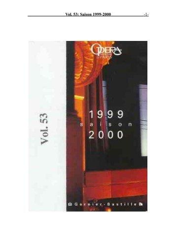 Vol. 53: Saison 1999-2000 - 1 -