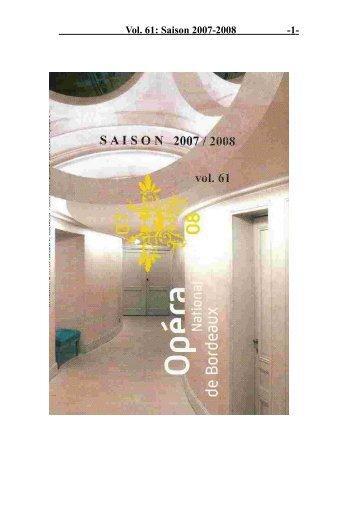 Vol. 61: Saison 2007-2008 - 1 -