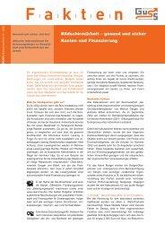 Kosten und Finanzierung gesunder Bildschirmarbeit (PDF ... - Guss