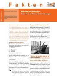 Erholung und Ausgleich– Basis für berufliche Höchstleistungen - Guss