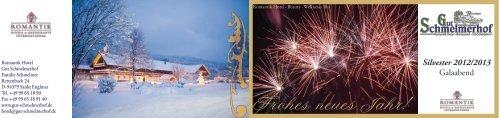 Frohes neues Jahr! - Romantik Hotel Gut Schmelmerhof
