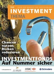 Auf Nummer sicher INVESTMENTFONDS - gute-anlageberatung.de
