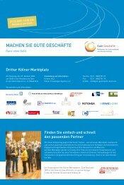 Flyer Marktplatz - Köln - Gute Geschäfte