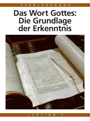 Das Wort Gottes: Die Grundlage der Erkenntnis - Gute Nachrichten