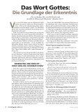 Das Wort Gottes: Die Grundlage der Erkenntnis - Gute Nachrichten - Seite 2