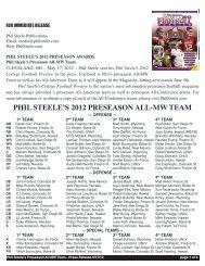PHIL STEELE'S 2012 PRESEASON ALL-MW TEAM