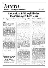 Erstaunliche Erfüllung biblischer Prophezeiungen - Gute Nachrichten