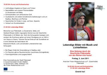 Flyer Lebendige Bilder - Freie Waldorfschule Gutenhalde