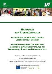 Handbuch zur Eigenkontrolle - Lebensmittel - Gutes vom Bauernhof