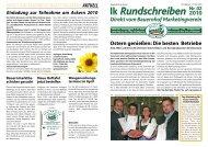 Rundschreiben 2010-02 - Gutes vom Bauernhof