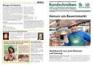 Rundschreiben 2011-02 - Gutes vom Bauernhof