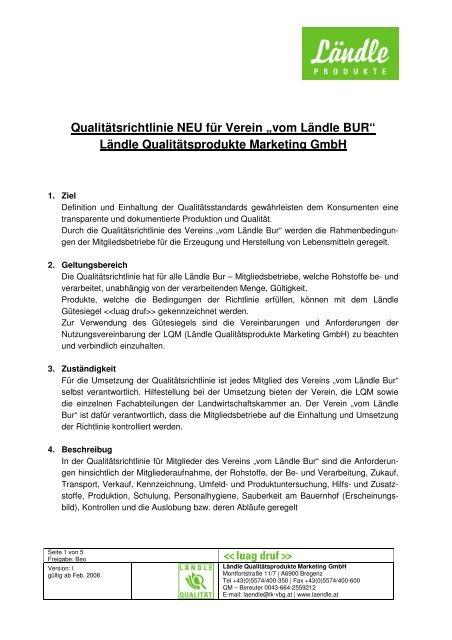 Download Qualitätsrichtlinie - Gutes vom Bauernhof
