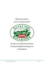 Kapitel Richtlinien, Punkt 6 - Gutes vom Bauernhof