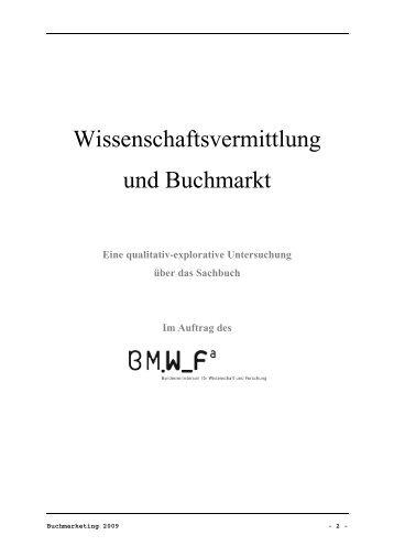 2.) Wissenschaftsvermittlung und Buchmarkt - Buchkultur