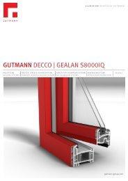 GUTMANN DECCO | GEALAN S8000IQ - Gutmann AG
