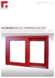 GUTMANN DECCO | KÖMMERLING HST - Gutmann AG