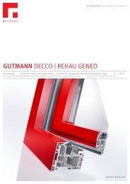 GUTMANN DECCO | REHAU GENEO - Gutmann AG